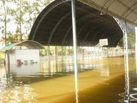 School basketball court